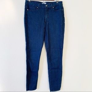 Paige Hoxton Ankle Dark Wash Skinny Jeans
